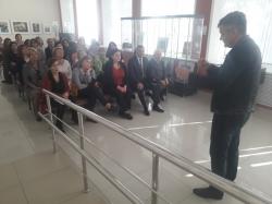 Группа работников национального музея КБР и музея изобразительных искусств им.А.Л.Ткаченко